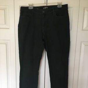 Loft curvy skinny jean size 10 dark green